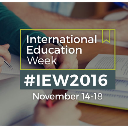 International Education Week,  November 14-18, 2016