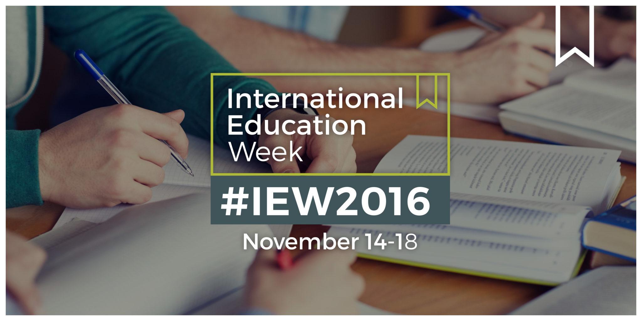 International Education Week,  November 14-18, 2016